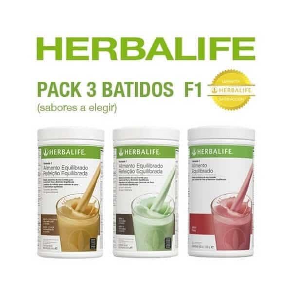Pack 3 Batidos Fórmula 1 Herbalife