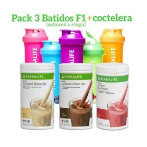 Pack 3 Batidos Fórmula 1 Herbalife + Coctelera