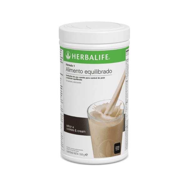 Batido Fórmula 1 Herbalife sabor Cookies and Cream