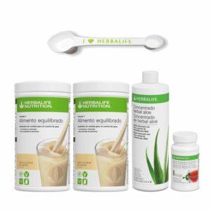 Pack 2 Batidos Fórmula 1 Herbalife + Aloe + Té + Cuchara Medidora