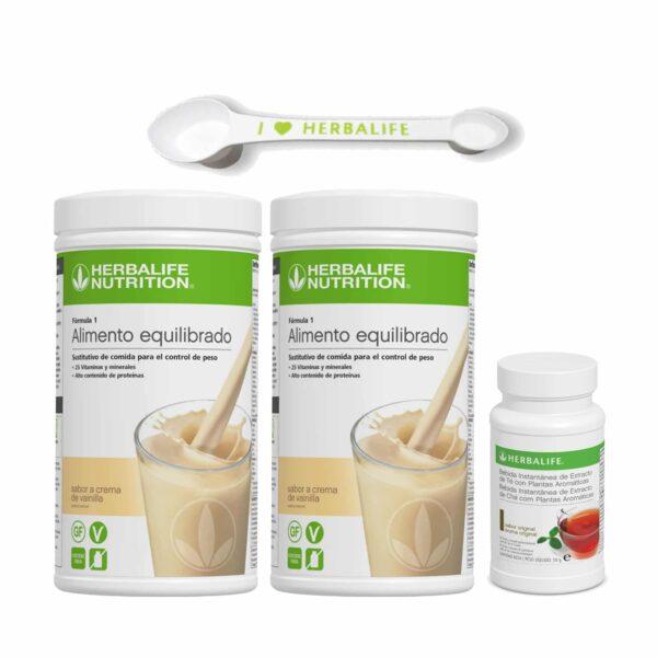 Pack 2 Batidos Fórmula 1 Herbalife + Té + Cuchara Medidora